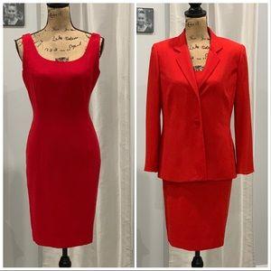 Jones New York red dress suit size 8